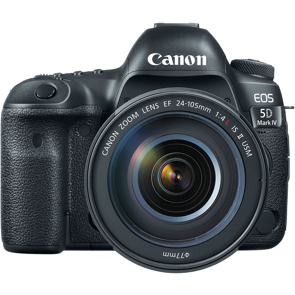Canon EOS 5D Mark IV DSLR Camera with 24-105mm f/4L