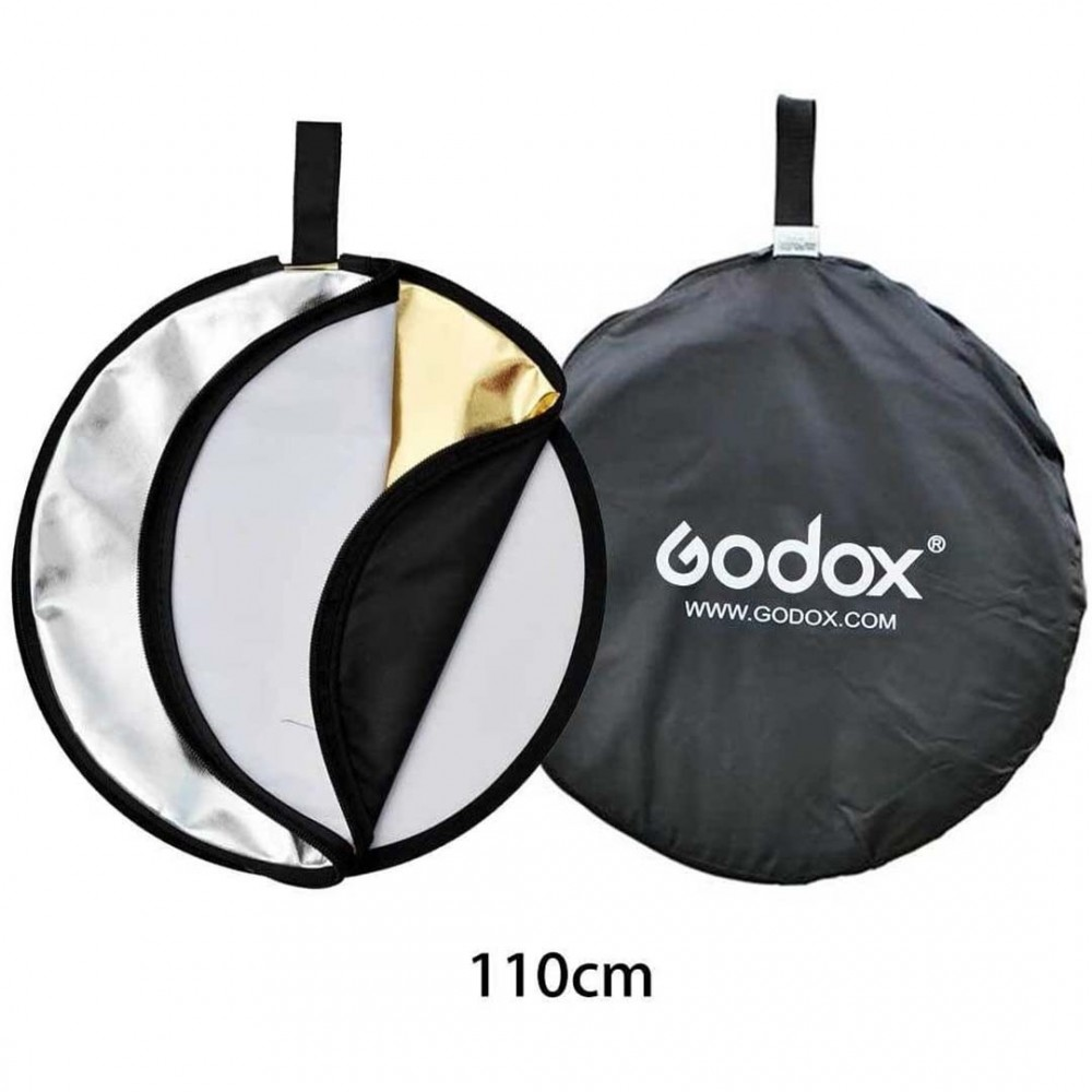 "Godox 5 in 1 Collapsible 110cm 43"" Light Flash Studio Reflector Round Diffuser"