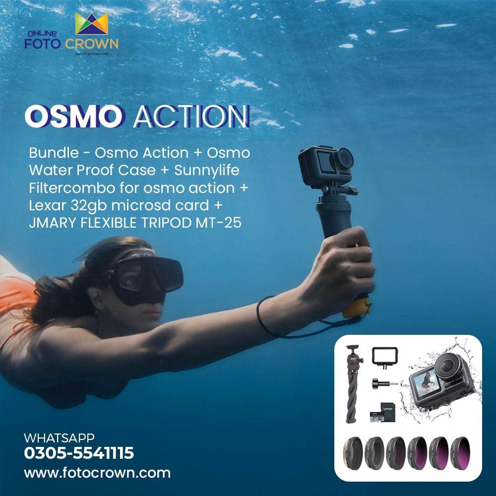 DJI Osmo Action 4k HDR Camera Bundle